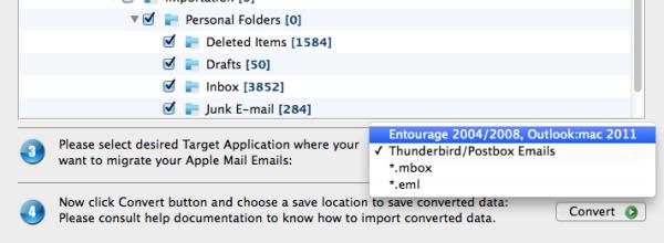 Apple Mail Import to Entourage Database