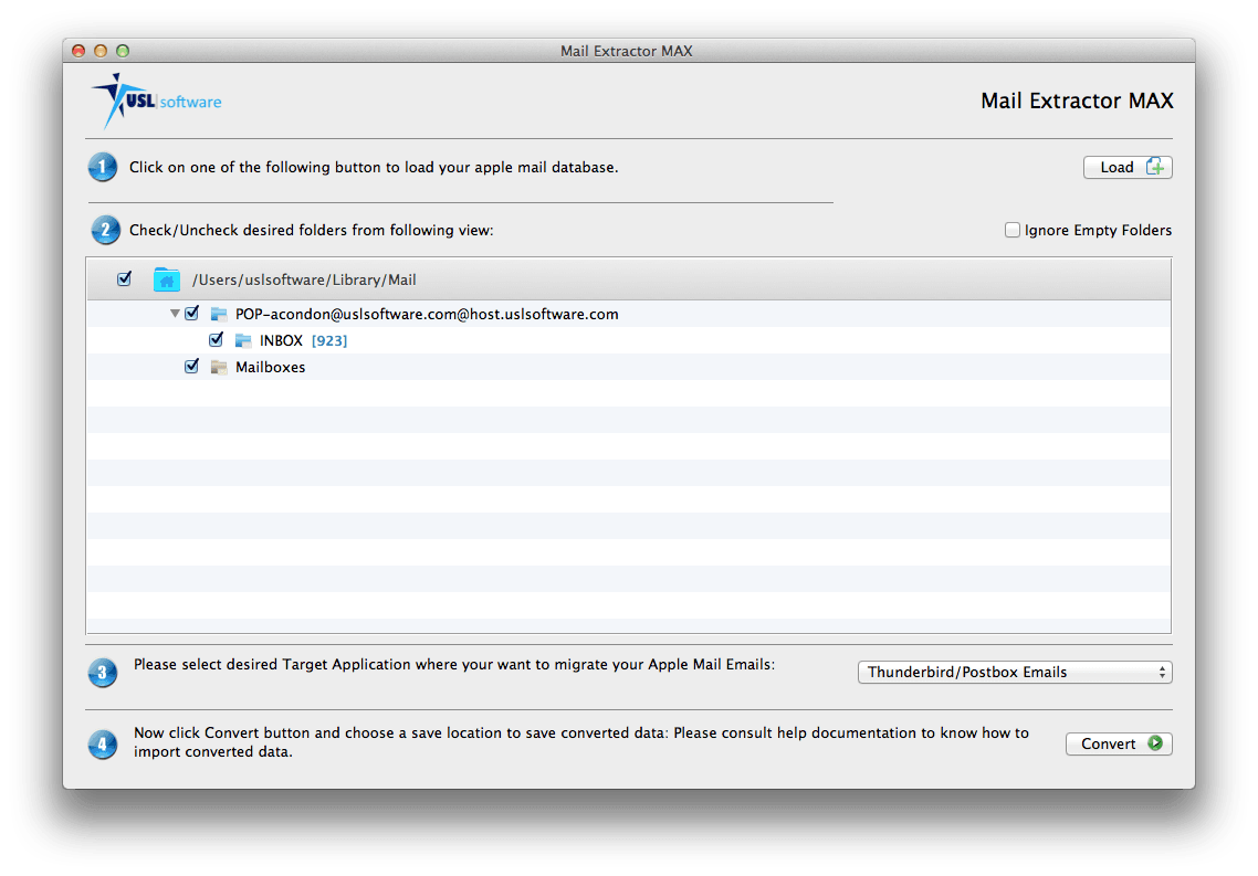 how to convert apple mail to postbox emails
