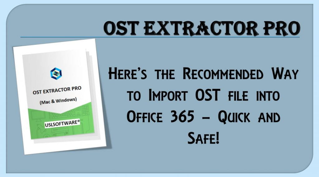 import ost file in office 365