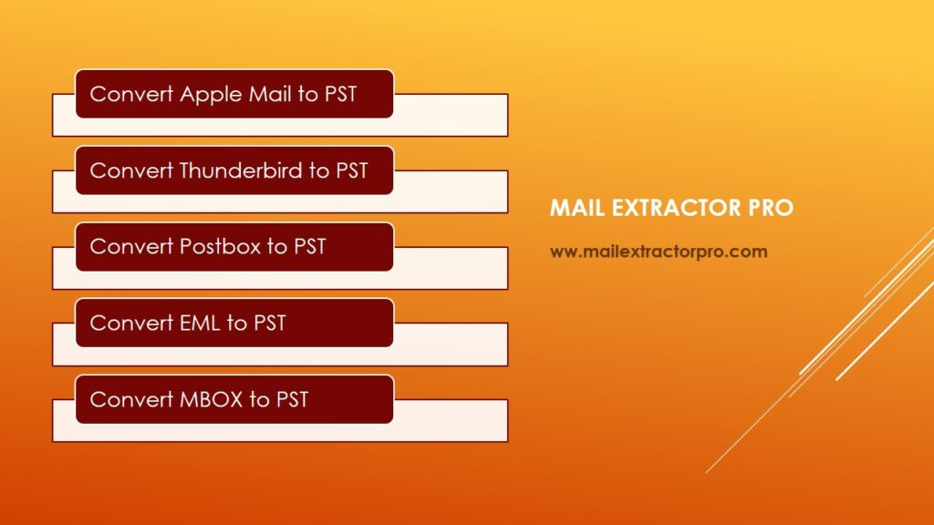 mbox file to pst conversion